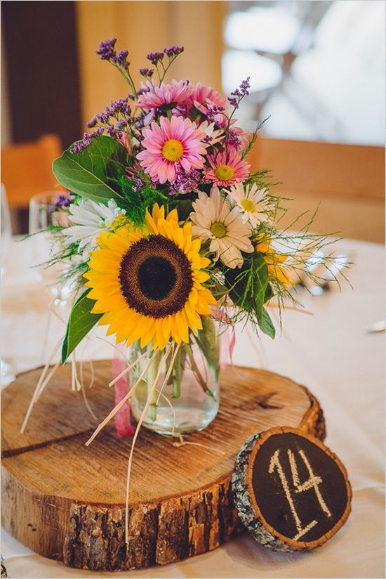 Sunflower Table Centerpieces and Arrangements
