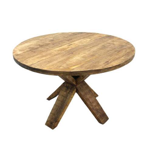 Solid Mango Wood Round Dining Table