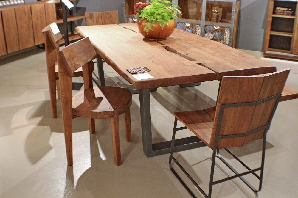 Acacia Wood Live Edge Dining Table