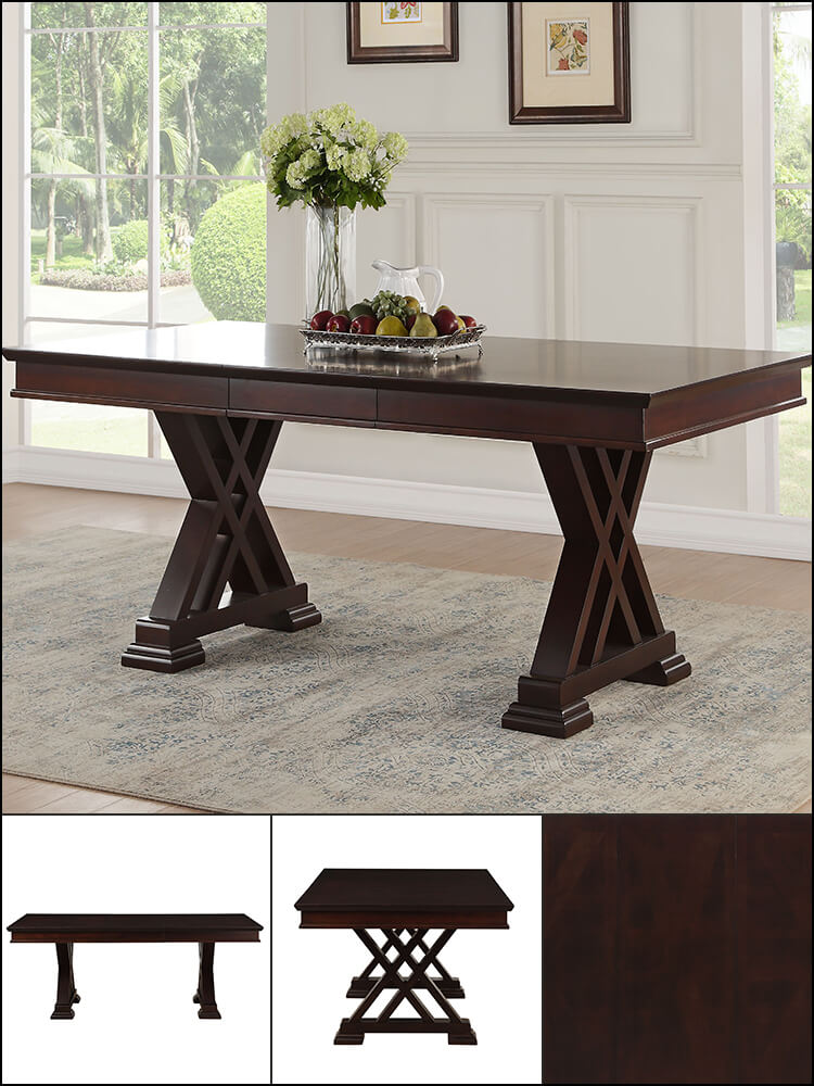 Extendable Dining Table in Espresso Finish