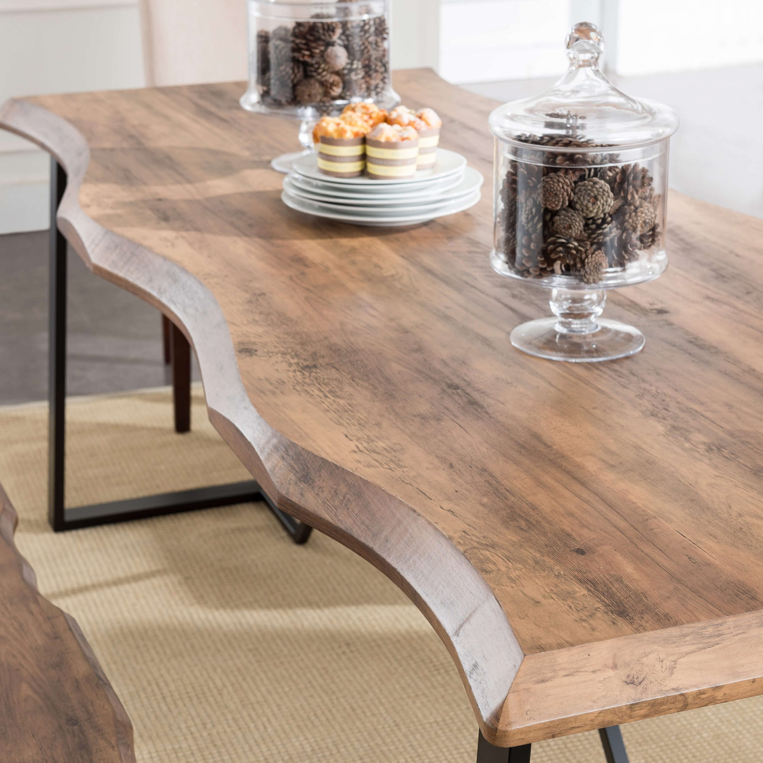 Faux Live Edge Dining Table