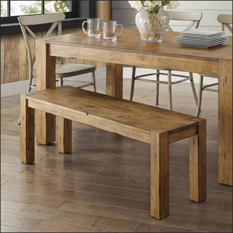 Rustic 3 Piece Dining Set with Bench