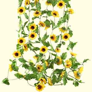 Artificial Silk Sunflowers Hanging Vine