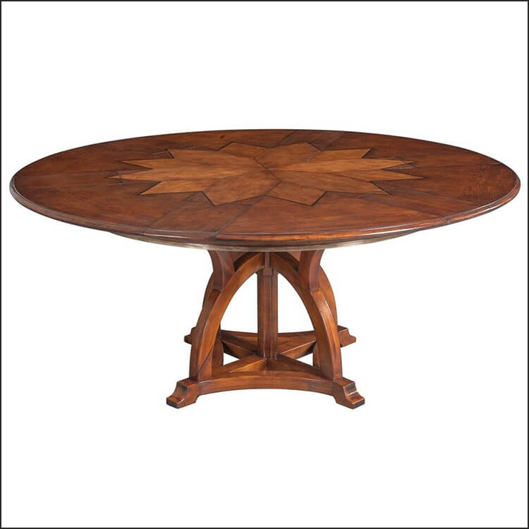 Solid Walnut Round Extendable Dining Table