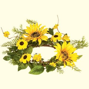 Artificial Sunflower Table Wreath