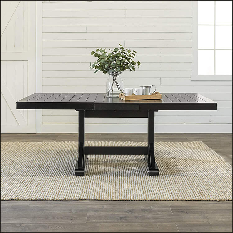 Modern Farmhouse Expandable Dining Room Table
