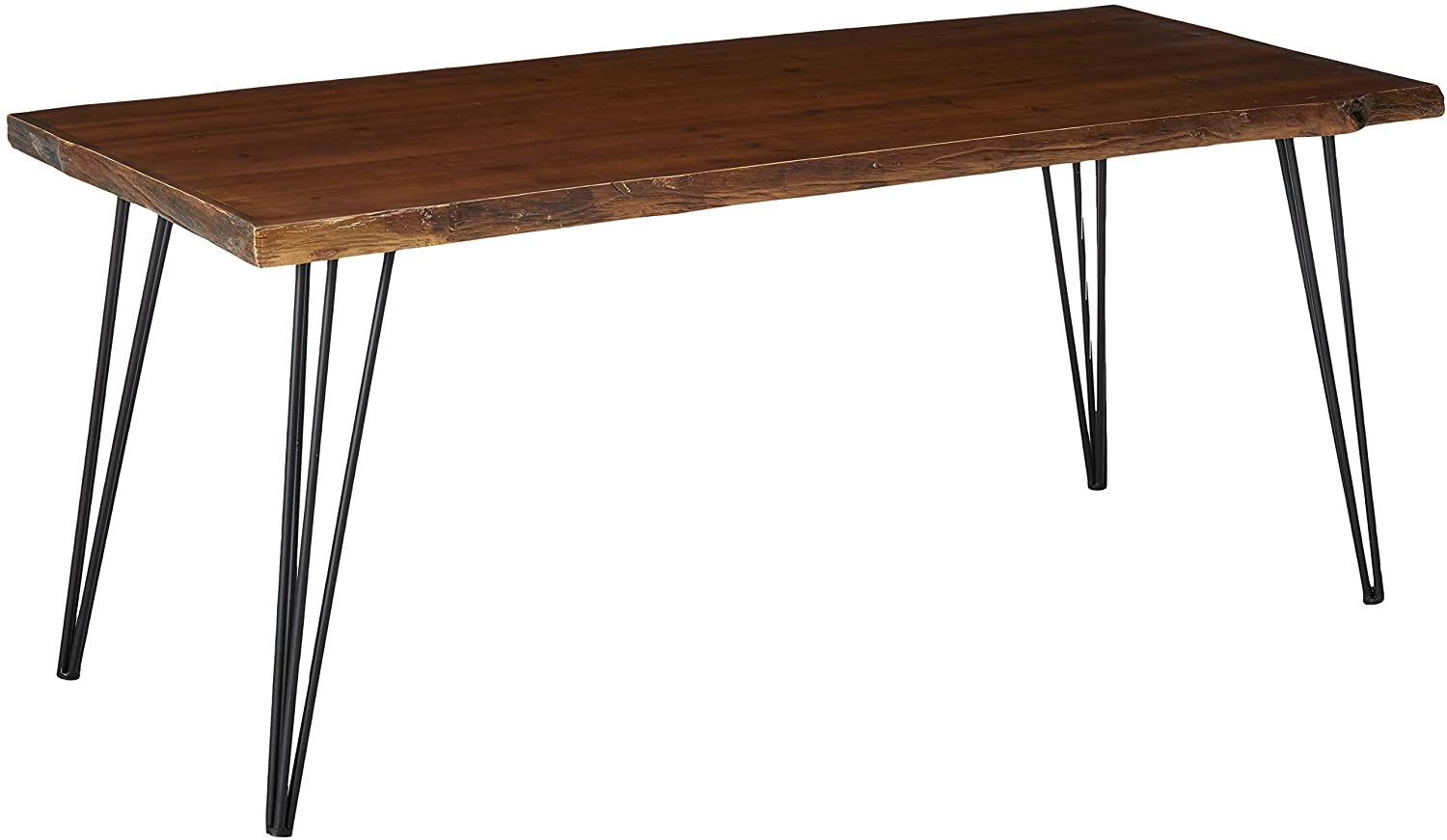 Industrial Faux Live Edge Rectangular Dining Table