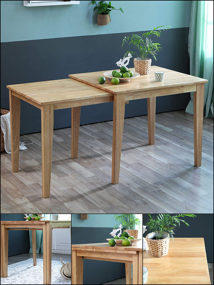 Hardwood Extending Leisure Desk for Kitchen and Dining Room