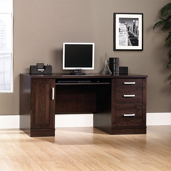 Office Port Credenza in Dark Alder Finish