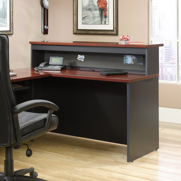 Credenza and Hutch Office Reception Desk