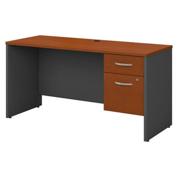 Credenza Desk Shell With 3/4 Pedestal