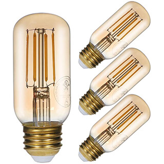 Dimmable Vintage Amber Led Tubular Bulb