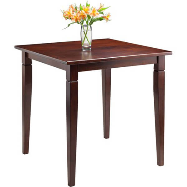 Walnut Finish Dining Table with Tapered Legs