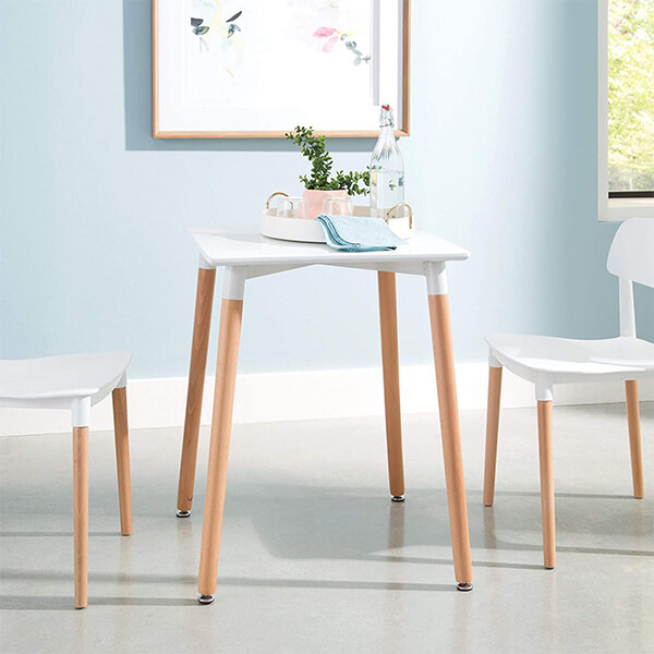 Modern Square Dining Table in White