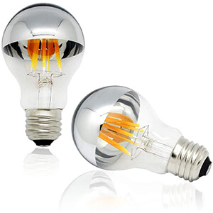 Half Chrome Light Bulb Dimmable