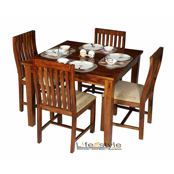 Square 3-Piece Wood Dining Set
