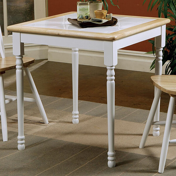 Square Tile Top Casual Dining Table