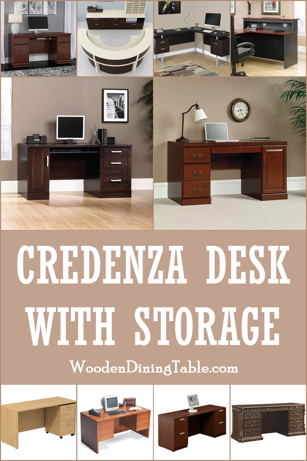 CREDENZA DESK WITH STORAGE