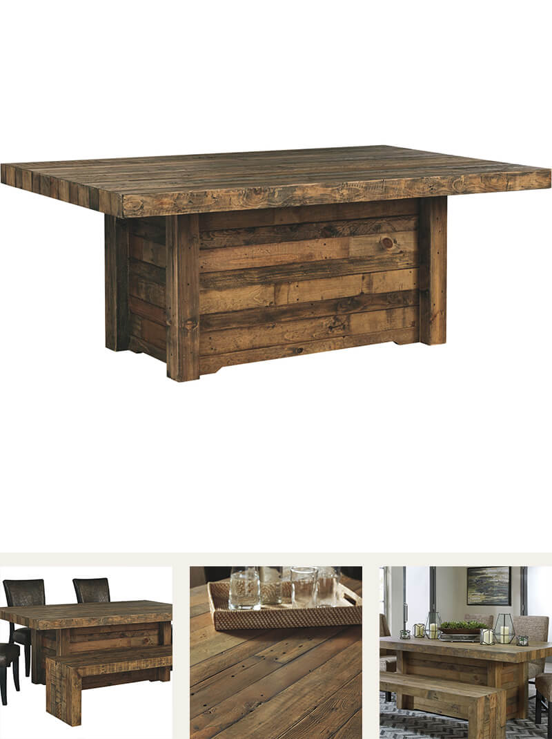 Light wood rectangle dining table
