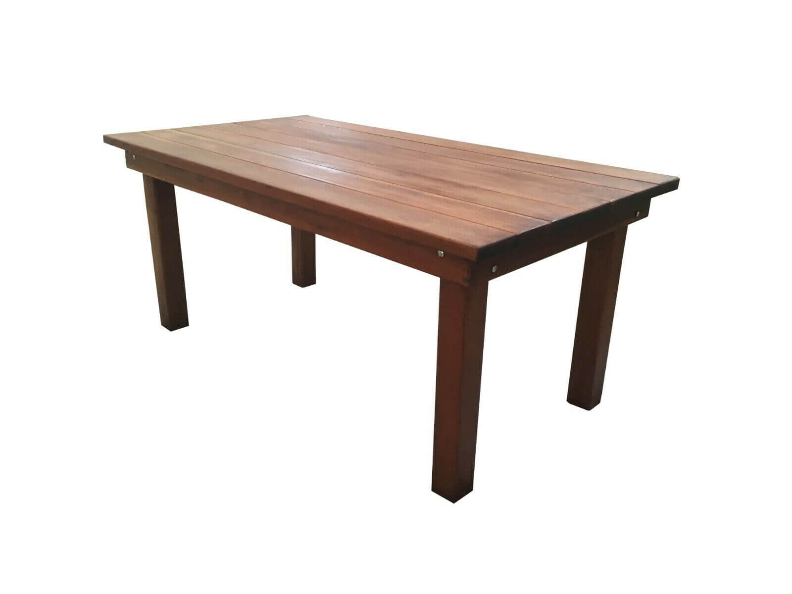 Redwood farmhouse dining table