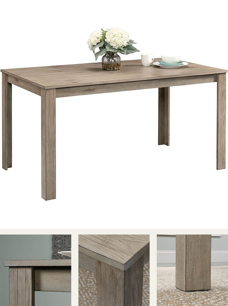 White pine light wood dining table