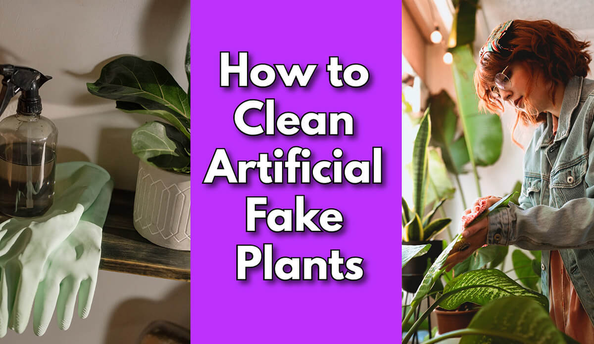 how to clean artificial fake plants
