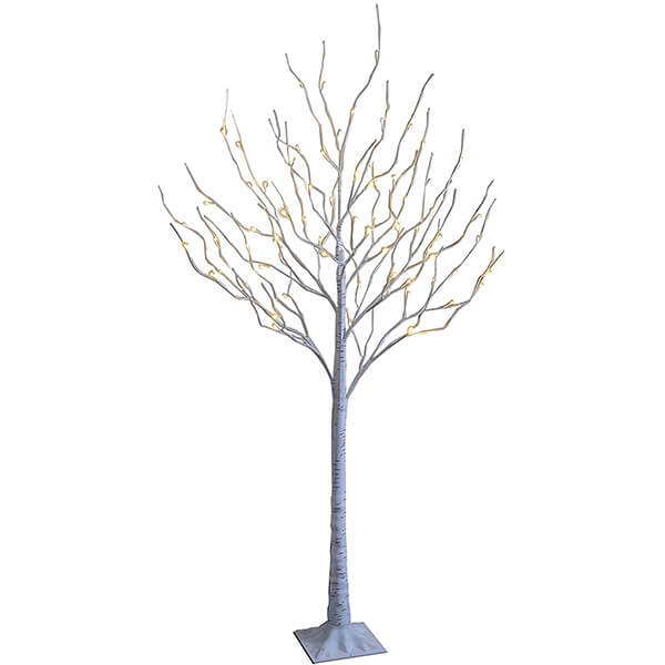 3 Pcs of Artificial Birch Trees with Lights (4 ft, 6ft, 8 ft)