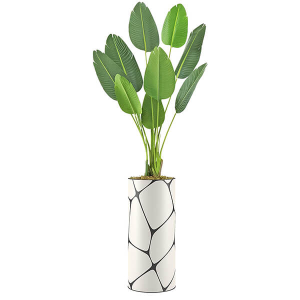 Artificial Bird of Paradise Plant with Vase (7 ft.)