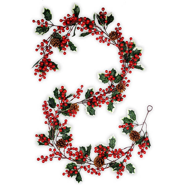 Artificial Holly Garland (6 ft. 4 in)
