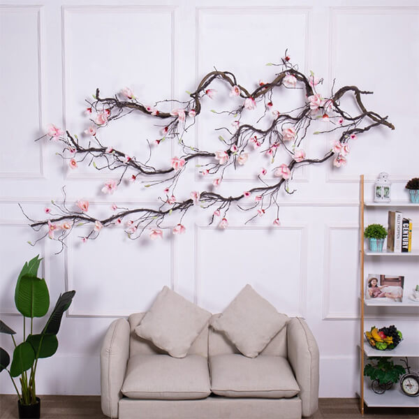 Artificial Magnolia Garland with Flowers (9 ft, 10 in)
