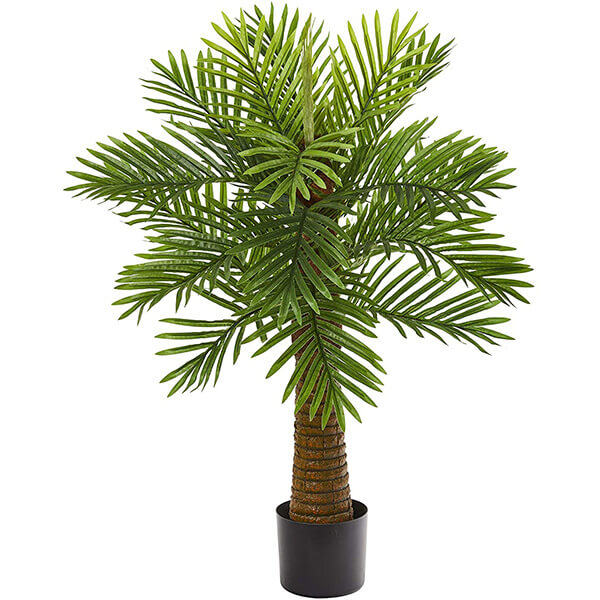Artificial Palm Tree with Woody Trunk (3 ft)