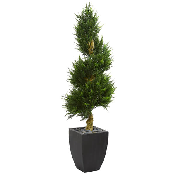 UV Resistant Artificial Spiral Cypress Tree (5 ft. 6 in)