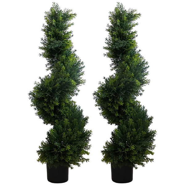 2 Pcs of Artificial Cypress Trees (2 ft. 11 in)