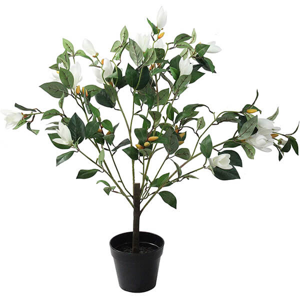 Artificial Magnolia Plant with White Flowers (2 ft. 9 in)