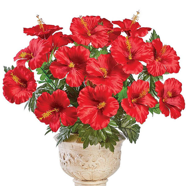 Artificial Tabletop Hibiscus Plant