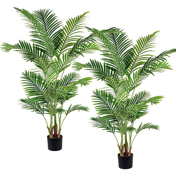 Combo 2 Pcs of Artificial Areca Palm Plants (5 ft. 3 in)