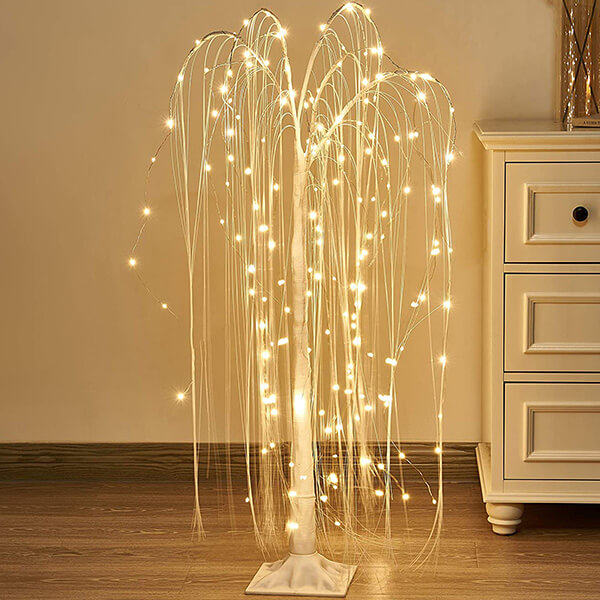 Weeping Willow Christmas Tree with 180 LED Lights