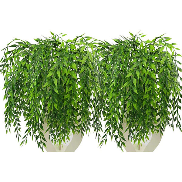 2 Pcs of Hanging Artificial Willow Vines (1 ft. 8 in)