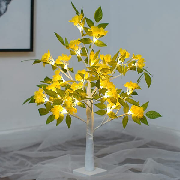 Light-up Artificial Wisteria Plant (24 In)