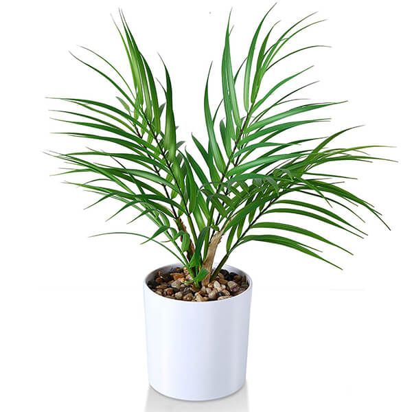 Tabletop Small Artificial Palm Plant (16 in)
