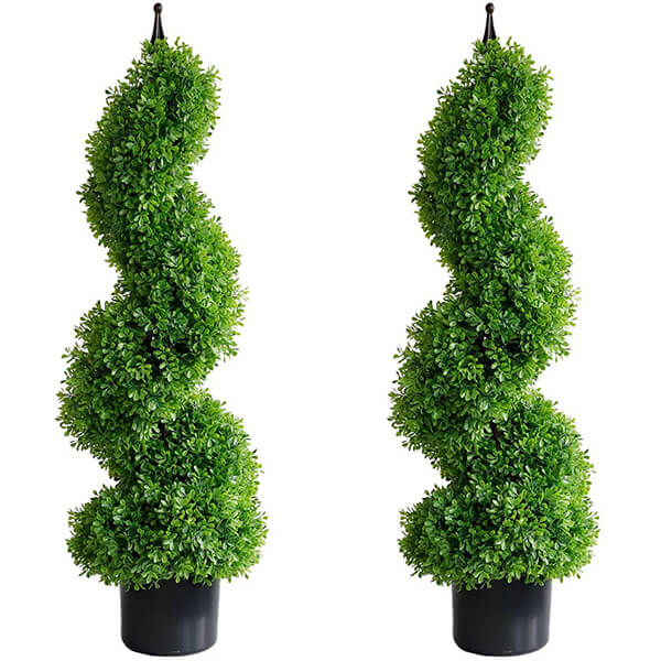 Topiary Artificial Boxwood Trees (2 ft. 11 in)