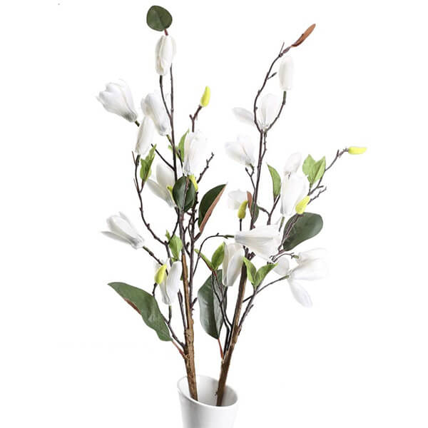 2 Pcs of Silk Magnolia Flowers at Low Prices (2 ft. 6 in)