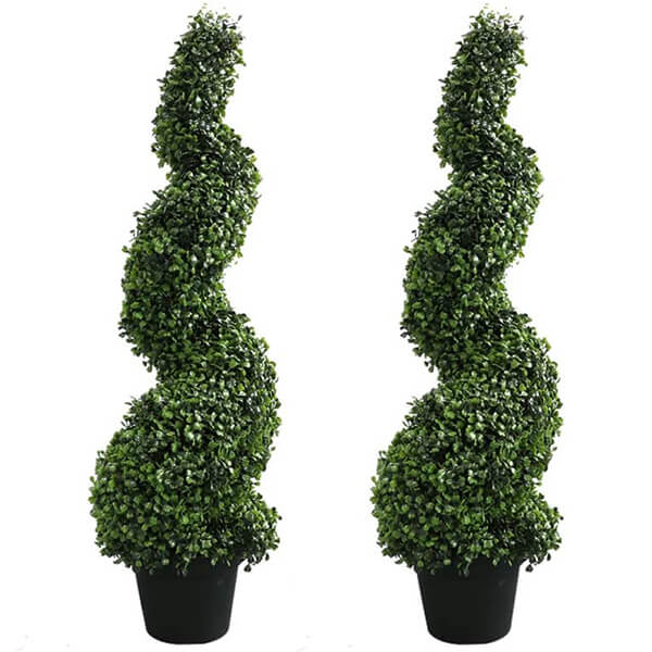 Artificial Boxwood Topiary Trees (2 ft. 11 in)