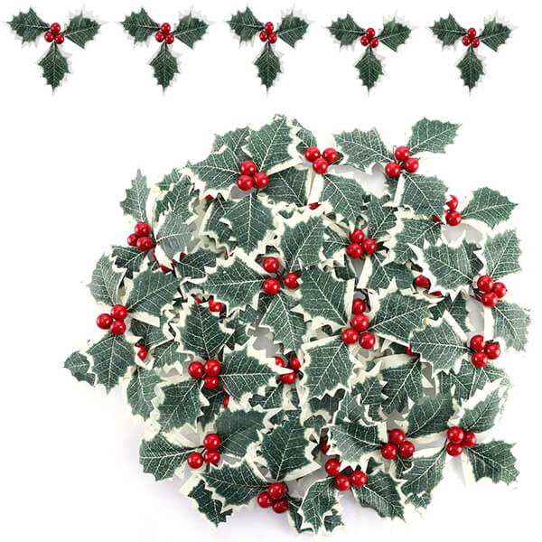 30 Pcs of Artificial Holly Plants at Low Prices