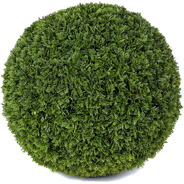 UV Resistant Artificial Cypress Topiary Balls (15 in)