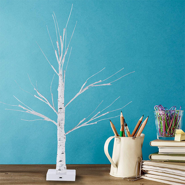 2 Pcs of Artificial Birch Trees at Reasonable Prices (2 ft)