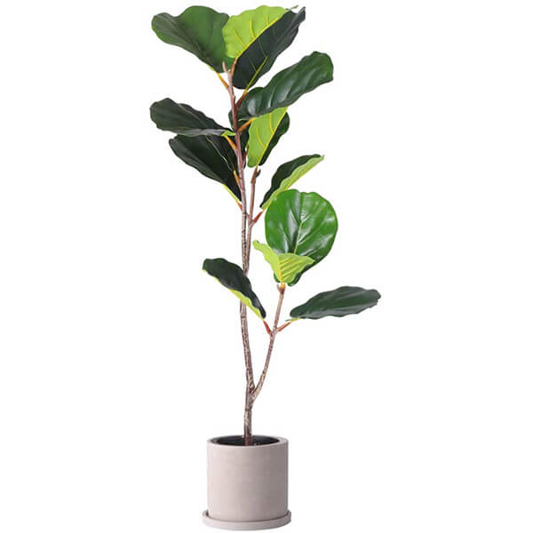 Fake Fiddle Leaf Fig Plant with No Pot (3 ft. 4 in)