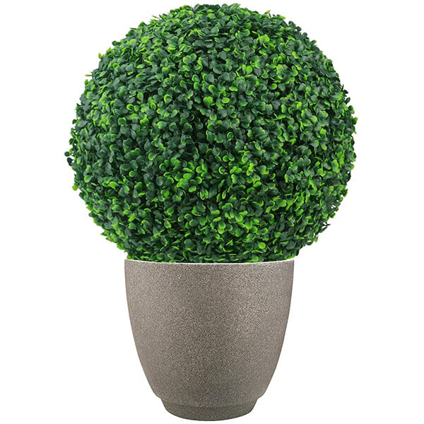 2 Pcs of Fake Boxwood Topiary Balls (1 ft. 4 in)