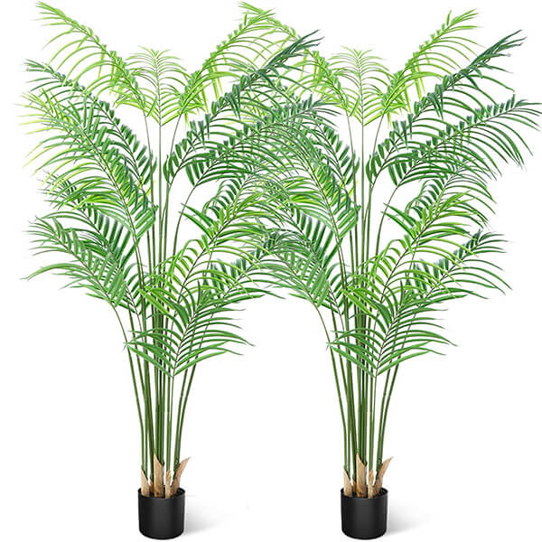 2 Pcs of Fake Areca Palms at Affordable Prices (6 ft.)