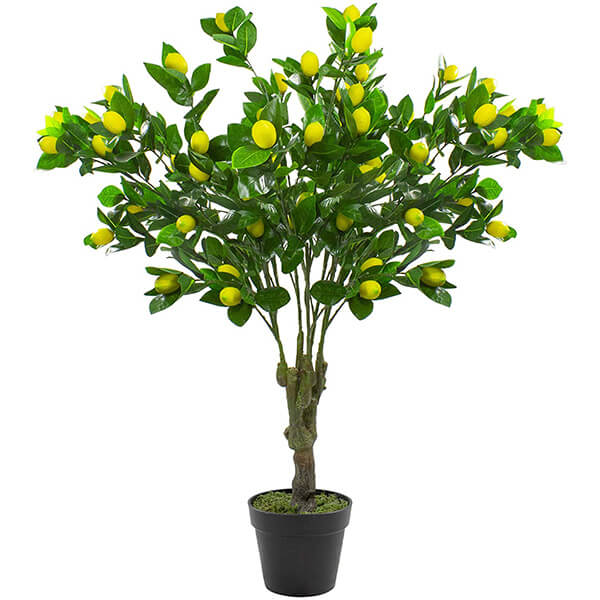 Fake Lemon Plant with Moss and Pot for Indoors (3 ft. 9 in)